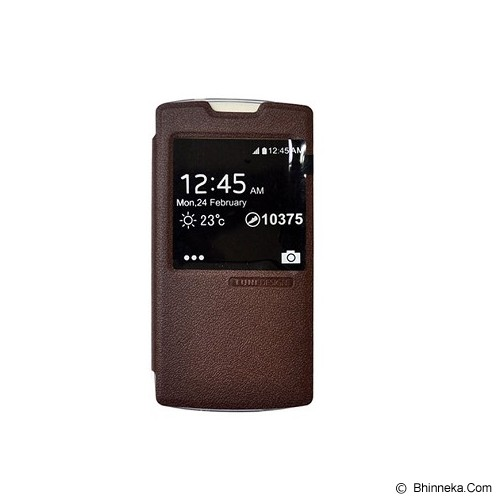 TUNEDESIGN FolioAir for Oppo Joy - Brown - Casing Handphone / Case