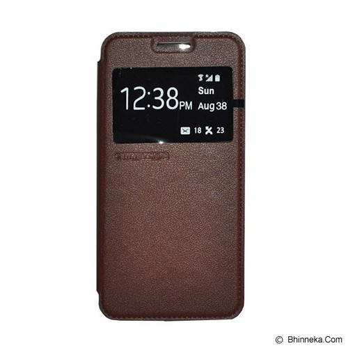TUNEDESIGN FolioAir for Samsung Galaxy Alpha - Brown - Casing Handphone / Case