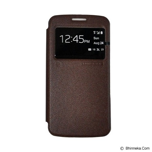 TUNEDESIGN FolioAir for Samsung Galaxy Core 2 - Brown - Casing Handphone / Case
