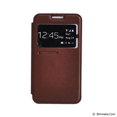 TUNEDESIGN FolioAir for Samsung Galaxy Grand Max - Brown - Casing Handphone / Case