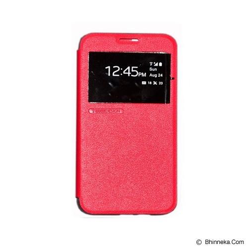 TUNEDESIGN FolioAir for Samsung Galaxy J1 - Red - Casing Handphone / Case