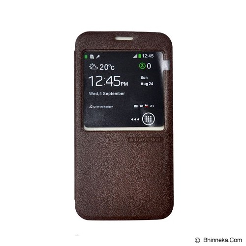 TUNEDESIGN FolioAir for Samsung Galaxy S5 - Brown - Casing Handphone / Case