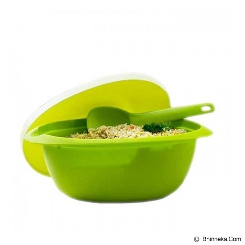 TUPPERWARE Blossom Rice Server With Spoon - Hijau - Mangkuk / Mangkok / Bowl