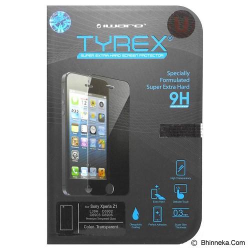 TYREX Sony Xperia Z1 Tempered Glass Screen Protector (Free Plastic Back Protector) - Screen Protector Handphone