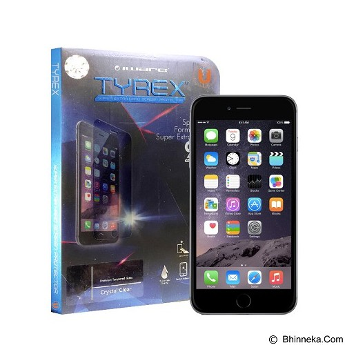 TYREX Tempered Glass Screen Protector for Apple iPhone 6 Plus/6s Plus 3D Full Cover - White - Screen Protector Handphone