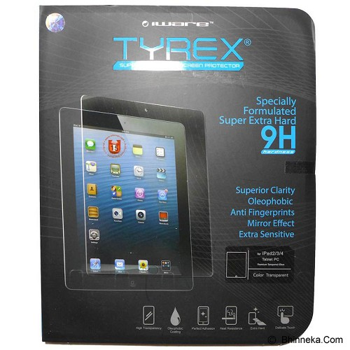 TYREX Apple iPad 2/3/4 Tempered Glass Screen Protector (Merchant) - Screen Protector Tablet