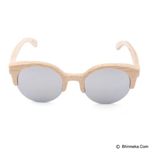 Tutu Round Bamboo - Silver (Merchant) - Kacamata Hitam Pria