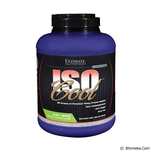 ULTIMATE NUTRITION Iso Cool (5 lbs 2270gr) - Juicy Apple Fantasy - Suplement Penambah Daya Tahan Tubuh