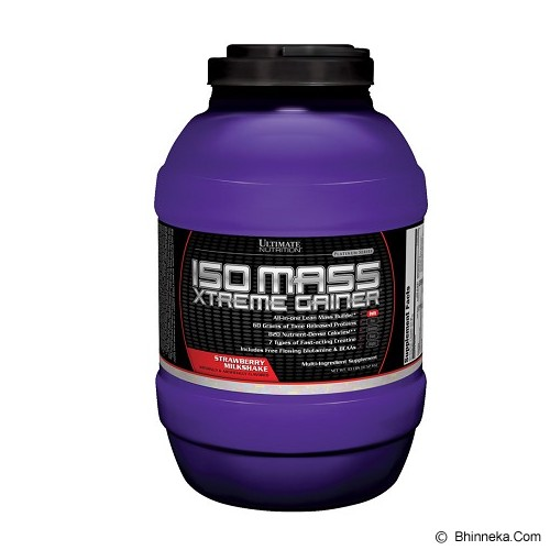 ULTIMATE NUTRITION Isomass Xtreme Gainer (10.11 lbs 4.600 gr) - Strawberry Milk Shake - Suplement Penambah Daya Tahan Tubuh