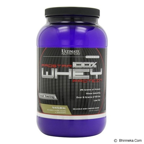 ULTIMATE NUTRITION Prostar 100% Whey Protein 2lb - Natural - Suplement Penambah Daya Tahan Tubuh