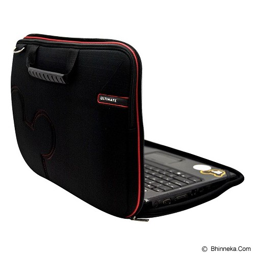 ULTIMATE Tas Laptop Double Slim Cute 14 Inch - Black - Notebook Carrying Case