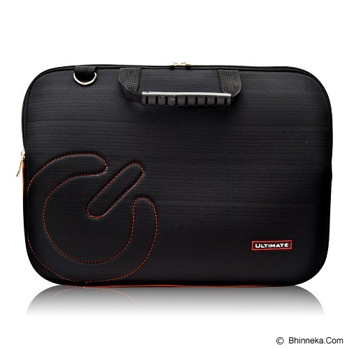 ULTIMATE Tas Laptop Double Slim Logo 14 Inch - Black - Notebook Carrying Case