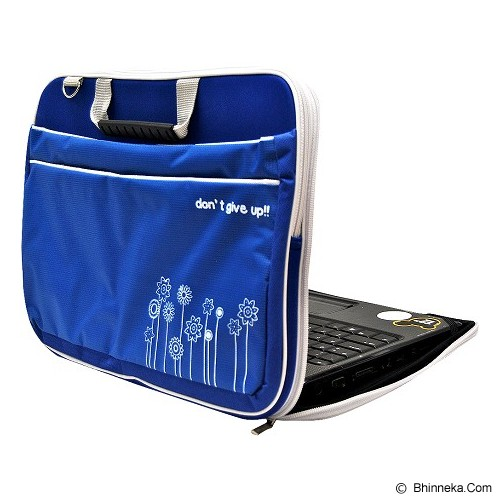 ULTIMATE Tas Laptop Double Triple Flower 14 Inch - Blue - Notebook Carrying Case