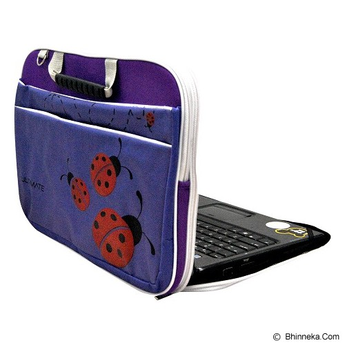 ULTIMATE Tas Laptop Double Lady Bug 14 Inch - Purple - Notebook Carrying Case