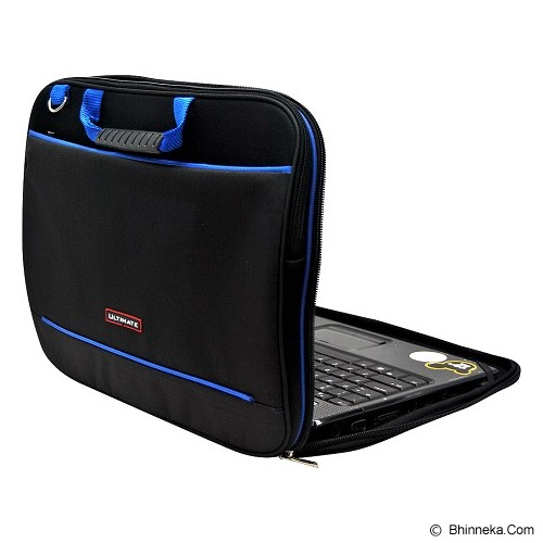 ULTIMATE Tas Laptop Double Gerbiro Blue Line 12 Inch - Black - Notebook Carrying Case