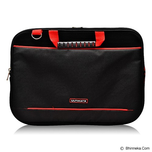 ULTIMATE Tas Laptop Double Gerbiro Red Line 12 Inch - Black - Notebook Carrying Case