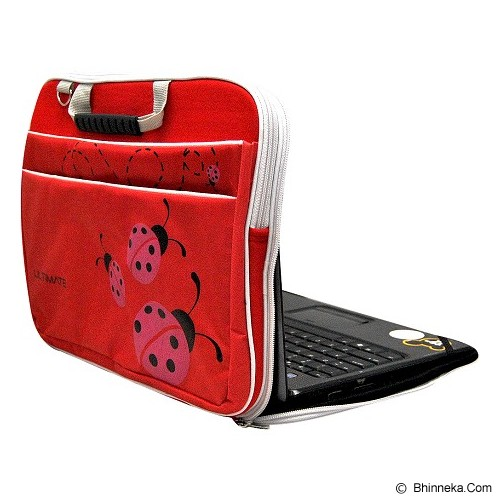ULTIMATE Tas Laptop Double Lady Bug 12 Inch - Red - Notebook Carrying Case