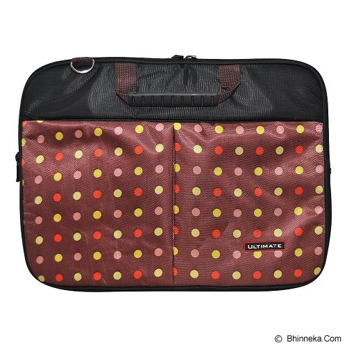 ULTIMATE Tas Laptop Double Pro Dot 12 Inch - Brown - Notebook Carrying Case
