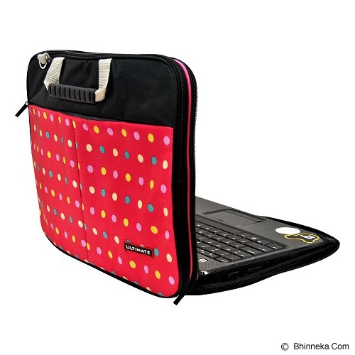 ULTIMATE Tas Laptop Double Pro Dot 12 Inch - Red - Notebook Carrying Case