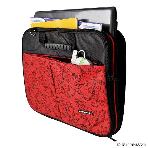 ULTIMATE Tas Laptop Double Pro Leaf 12 Icnh - Red - Notebook Carrying Case