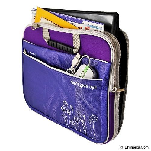 ULTIMATE Tas Laptop Double Triple Flower 12 Inch - Purple - Notebook Carrying Case