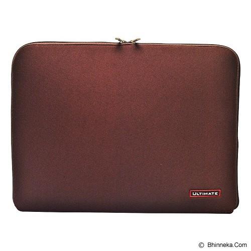 ULTIMATE Tas Laptop Plain Classic 10 inch - Brown (Merchant) - Notebook Sleeve