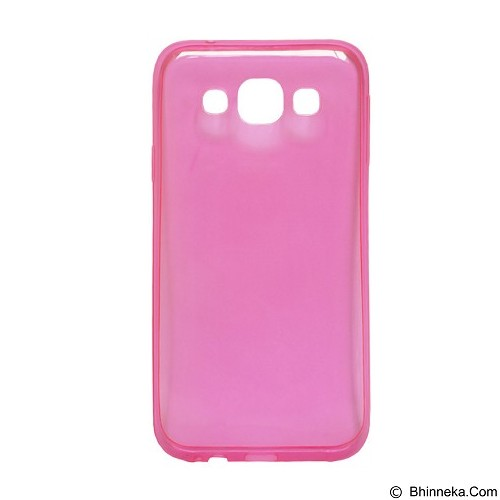 ULTRATHIN Softcase Samsung Galaxy J2 (2016) Transparant - Pink (Merchant) - Screen Protector Handphone