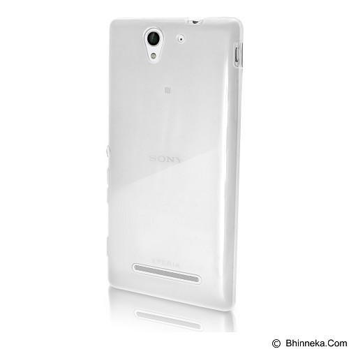 ULTRATHIN Sony Xperia C3/C3 Dual TPU Case - Transparent White (Merchant) - Casing Handphone / Case