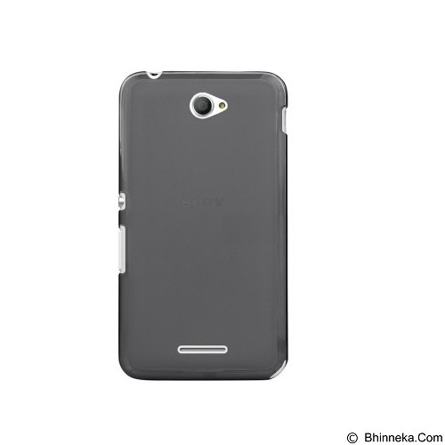 ULTRATHIN Sony Xperia E4/E4 Dual TPU Case - Transparent Black (Merchant) - Casing Handphone / Case