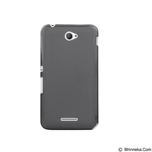 ULTRATHIN Sony Xperia E4/E4 Dual TPU Case - Transparent Black (Merchant) - Casing Handphone / Case