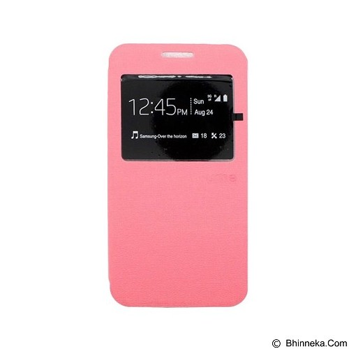 UME Enigma Case for Samsung Galaxy Note 4 Flip Cover [Ume0061] - Pink - Casing Handphone / Case