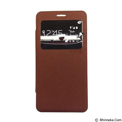 UME Enigma Case for Samsung Galaxy S6 Edge Flip Cover - Brown (Merchant) - Casing Handphone / Case