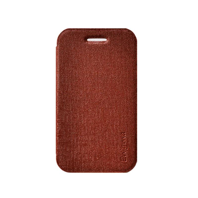 UME Soft Colorful for Lenovo A390T [UME-ESC-WT-A390T] - Brown - Casing Handphone / Case
