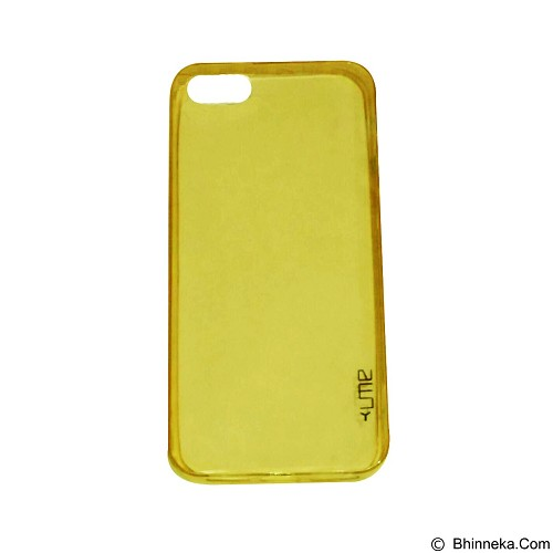 UME UltraThin Softcase for iPhone 5G/5S/5SE - Yellow (Merchant) - Casing Handphone / Case