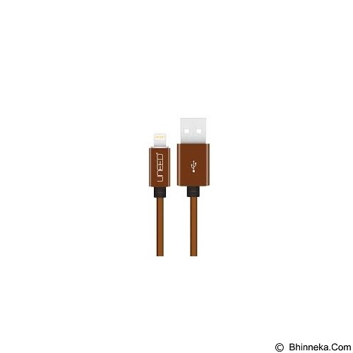 UNEED Cable Charger And Data Lightning 1M [UCB10I] - Brown - Cable / Connector Usb