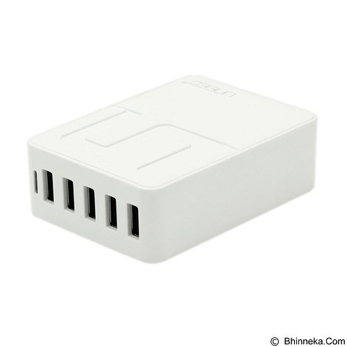 UNEED Travel Charger 5 Port 8A + 2 UCS M1 [UCH 5P + 2C] - White - Charger Handphone