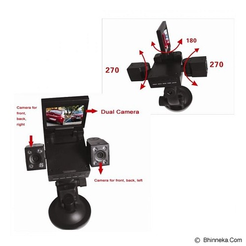 UNIQTRO Car BlackBox Dual Camera H-3000 - Kamera Mobil