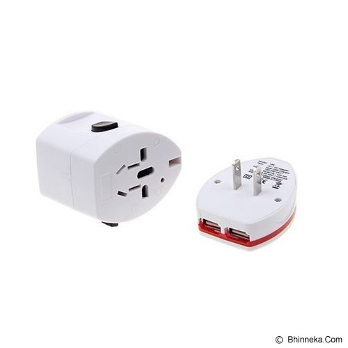 UNIQUE Adaptor Universal Travel Slide Me [AD-UT-SM] - White - Universal Travel Adapter