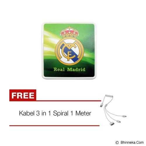 UNIQUE Battery External Power Up 8400mAh Real Madrid [BTR-PU-8400-RM] - Portable Charger / Power Bank