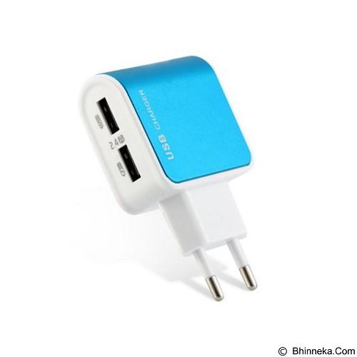 UNIQUE Charger USB 2 Port E Strong [CH-U-ES-D09-BL] - Blue - Universal Charger Kit