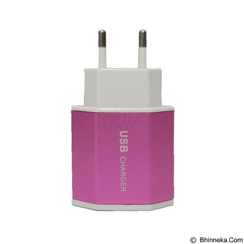 UNIQUE Charger USB [ CH-U-ES-D10-P] - Pink (Merchant) - Charger Handphone