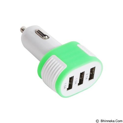 UNIQUE Charger USB Car 3-Port [CH-U-PU713-GR] - Hijau - Car Kit / Charger