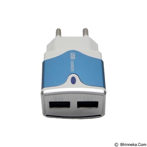 UNIQUE Charger USB Dual 2-port [ES-D11] - Blue (Merchant) - Charger Handphone