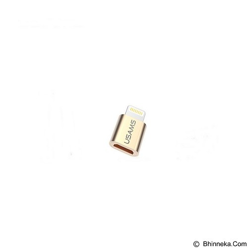 USAMS Coversion Head/Adapter for iPhone 6/6s - Gold (Merchant) - Cable / Connector Usb