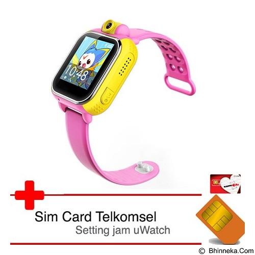 UWATCH 3G GPS Tracker & Telkomsel Sim Card [uwa-030241-pnk] - Pink (Merchant) - Gps & Running Watches