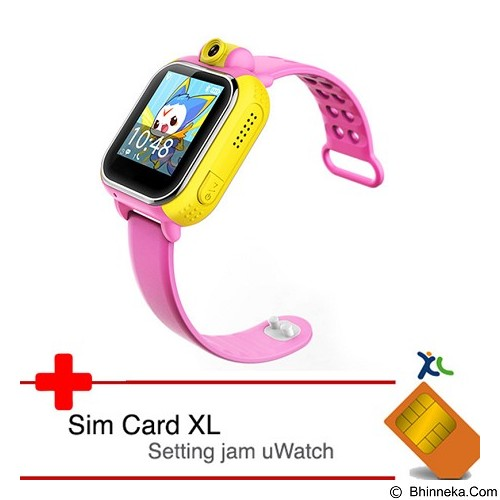 UWATCH 3G GPS Tracker & XL Sim Card [uwa-030243-pnk] - Pink (Merchant) - Gps & Running Watches