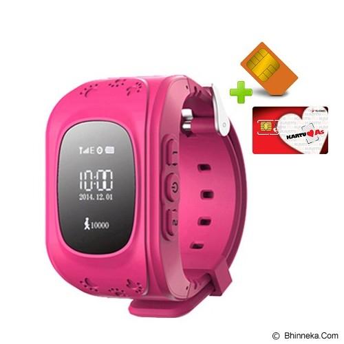 UWATCH Jam Tangan + Kartu Telkomsel & Setting [010201] - Pink - Gps & Running Watches