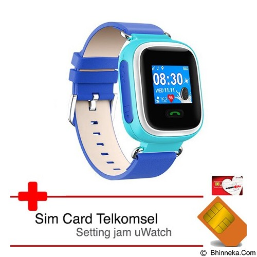 UWATCH Tinz-Clr  GPS Tracker & Telkomsel Sim Card [uwa-030121-blu] - Blue (Merchant) - GPS & Running Watches