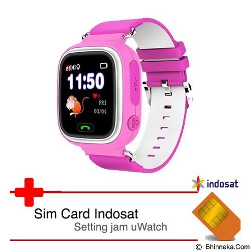 UWATCH Touch GPS Tracker & Indosat  Sim Card [uwa-030232-pnk] - Pink (Merchant) - Gps & Running Watches
