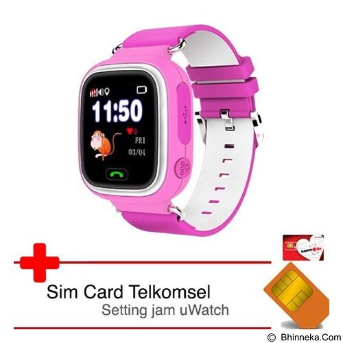 UWATCH Touch GPS Tracker & Telkomsel Sim Card [uwa-030231-pnk] - Pink (Merchant) - Gps & Running Watches